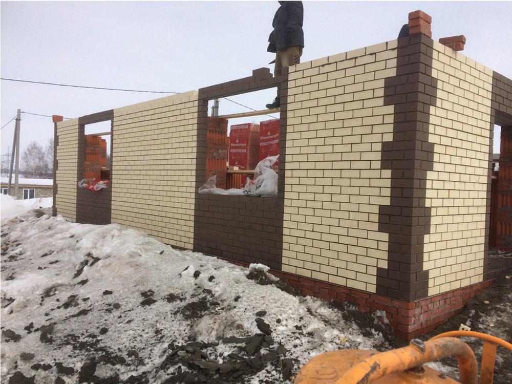Дом из кирпича строительство в Казани фото