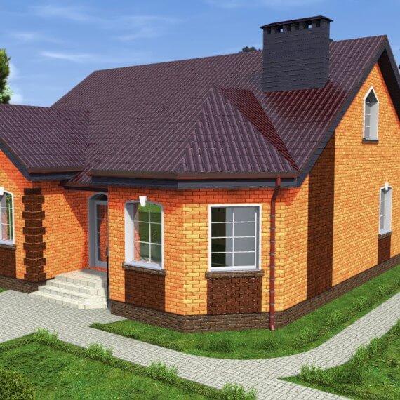 Строительство дома из кирпича: проекты