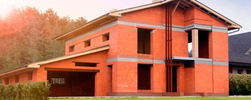 Строительство дома из керамических блоков Поротерм